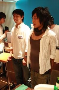 ケーキ完食後の山本卓弥さん